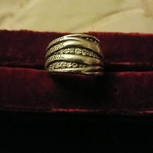Silpada sterling and crystal band